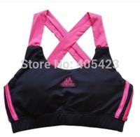 Famous brand Milk ribbon pad yoga sports short vest half-length tennis ball fitness running vest