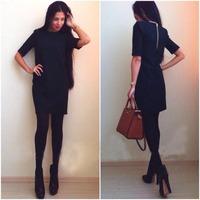 LBL1089 New 2014 Autumn  Half Sleeve Casual Dress Women Slim Pencil Dresses