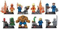 Decool Fantastic Four Second 8pcs/lot Minifigures Building Blocks Sets lego compatible Educational toys
