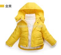 Candy color pink blue boy girl children Outwear coat Down & Parkas for 80 90 100 110 120cm