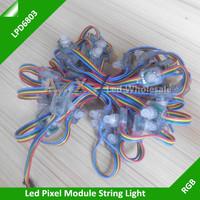 50Pcs/Lots 12mm Full Color Led Module LPD6803 IC Square Diffused Digital Pixel String DC5V, Waterproof IP68 RGB Led Pixel String