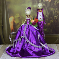 NEW!!! Free Shipping Hot-selling Handmade Ballet Doll Wedding Dressed Couples Decoration Modern 4 Kinds Of  Color Series