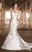Halter Sheath Backless  Wedding Dress Custom