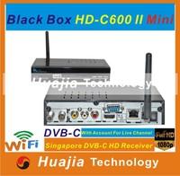 No subscription fee Singapore Starhub TV box Blackbox hd c600 ii mini HD-C600 Plus HD800C support HD , BPL (1pcs)