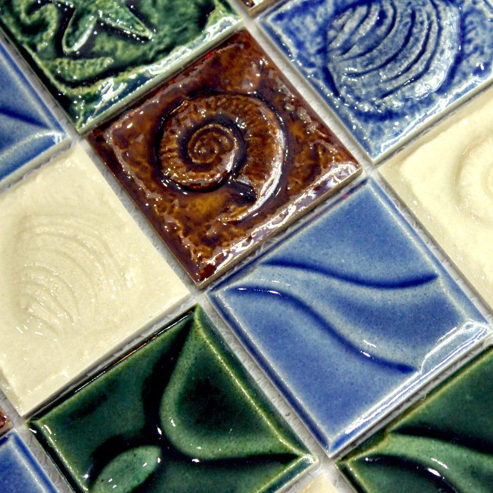 mosaico cerâmico telha marrom gravado(China (Mainland))