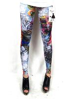 2014 Top Selling Sexy Angel Printing Leggings Fashion spandex Pants Polainas Woman Jogar a calcinha Leggin Free Shipping