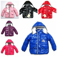 brand  boys girls Down jacket baby  Thick Warm clothing children down Hooded jacket 1-6years