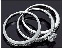 23861 Luxury Circular Micro Inlay zircon Elegant Simulation a Diamond Ring