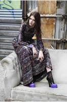 Free shipping 2014 fashion new winter woman long sleeve print A line long dress