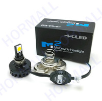 Bright 18W COB Motorcycle LED Headlamp  Motorbike LED Hi Lo beam Headlight Conversion Kit for most motor Golden yellow color