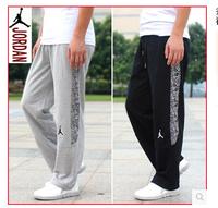 2014 new pure cotton trousers Jordan basketball pants sports pants jogging pants sweat pants men's thick section
