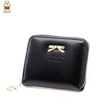 Mini carteira feminina 2014 brand zipper short wallet high fashion candy color pu leather women wallets sweet cute women purse