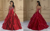 2014 Stock the picture color quincerence dress red cheaper dress for 15/16  size 4 6 8 10 12 14 16