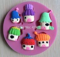 New High quality  Baby girls silicone mold,Fondant Cake Decorating Tools,fondant molds,Silicone Cake Mold -P255
