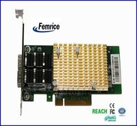 10G Ethernet Controller Fiber Optical Interface Card Server Application Big Golden Heat Sinks Adapter