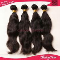 "Unprocessed Brazilian natural wave wholesale hair 10 pieces,cheap 10-26"" mixed length virgin natural wavy human hair extensions"