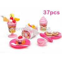 Pretend Play Kitchen Toys 37pcs/set Fruit Cake Girl Play House Learning Party Toys Classic Educational Toys Birthday Gift