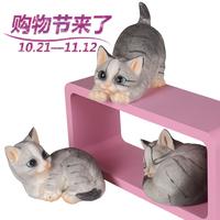 Resin Cat Animal Decoration Kitten Decoration Home Accessories