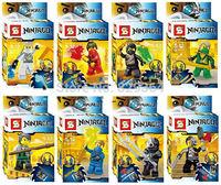 SY 8pcs/lot Minifigures brick Building block sets toys Educational toy lego compatible Classic toys