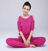 Autumn and winter yoga clothing suit fashion loose strapless long-sleeved clothes increasingly Fitness