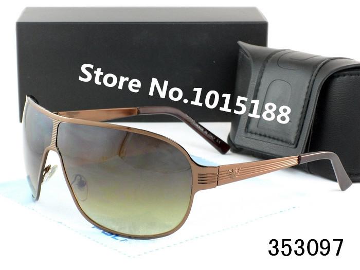 Designer brand new sunglasses with original box Men's Eyewear Fashion black frame glasses fishing driving for the p lice(China (Mainland))