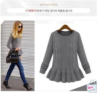 2014 new casual women's pullover European and American style Slim round neck long-sleeved knit women sweater