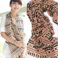 Fashion Brand Cartoon Stripe Scarf Autumn Fall Winter Soft Light Thin Scarves Shawl for Women Female Wraps (1010c27)