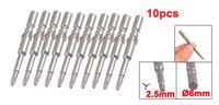 200 Pcs 6mm x 60mm x 2.5mm Round Shank Magnetic Triangle Screwdriver Bits