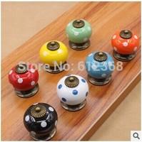 5Pcs / Lot Ceramic Kitchen Cabinet Knobs And Handles Dresser Cupboard Door Knob Pulls Hardware 6