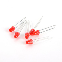 1000pcs  3mm Through Hole Red Colour Round LED Bright Light-Emitting Diodes Component Set Free shipping drop shipping-12000031