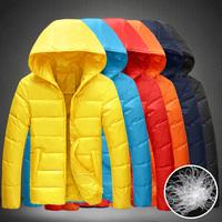 2014 Fashion White Duck Down Coat For Men Hoodies Winter Jacket Men Light Down Jacket Men Plus Size 4XL 5XL Five Colors