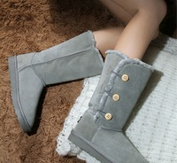 Snow boots thermal boots trend women's shoes genuine leather boots winter fashion sand boots