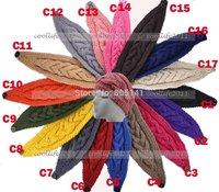 17 colors ! New Braided Headband Headwrap Winter Warmer soft Acylic Solid Hairband Free shipping