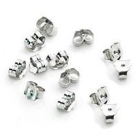 925 sterling silver jewelry accessories silver earrings accessories DIY jewelry accessories general butterfly earplug.