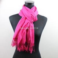 MIC 70cm x 200cm Pashmina Cashmere Solid Shawl Wrap Women's Girls Ladies Scarf Soft Fringes Solid Scarf 1-20
