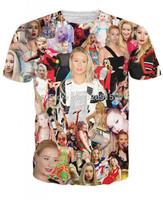 2014 New high quality Men's Short Sleeve Cotton T shirt Fashion Men/Women Canada Female singer Print 3D t shirt Free shipping