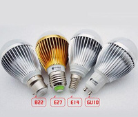 Retail sales FREE SHIPPING High power Cree 9W 12W 15W Dimmable Led globe Bulb E27 B22 110-240V LED Bubble ball lamp led light