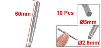 200 Pcs Metal 5mm x 60mm x 2.8mm T15 Magnetic Torx Screwdriver Bits
