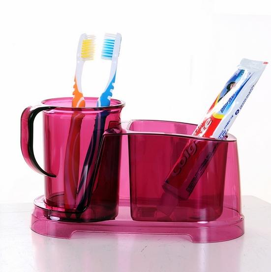 Juegos De Baño Rojos:Bathroom Toothbrush Toothpaste Holder