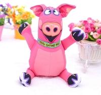 Pink Pig-- The cartoon Cotton animal shapes Dog Toys Pet  Vocalization cat Toys