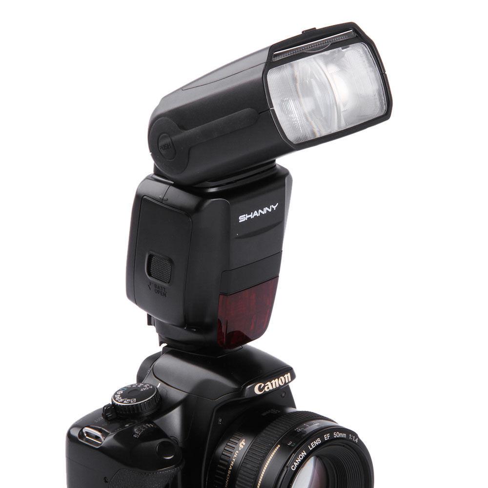 Вспышка для фотокамеры SHANNY Speedlite Canon Nikon 50D 5D D200 SN600S вспышка для фотоаппарата canon speedlite 320ex 5246b003