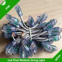 1000Pcs/Lots F8 Single Color Waterproof 12mm White Color Led Pixel Module DC5V Led Exposed Light String