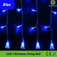 10PCS/Lot 220v Small bell LED fairy string Xmas Garland Lighting multi color LED Holiday Christmas Wedding Curtain Decoration