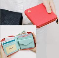 New Korean compact crown cross pattern short paragraph small zipper bag ladies purse coin purse wallet card package