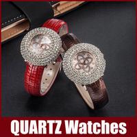 Cute Cartoon Watch Butterfly Style Dial Diamond Rhinestone Dial Window Quartz Wristwatch PU Leather Band Buckle