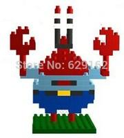 Hot Sale! SpongeBob Crab Boss Assembling Toys, Loz 9144, 130Pcs / 1Set. Children's Educational Toys. Holiday Gifts!!