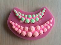 Beautiful Necklace Famous Fasion Silicone Mould Cake Decorating Fondant Sugarcraft Mold-P139