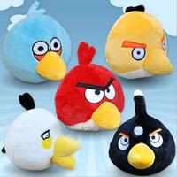 2014 Hot Sell Boys Girls Small Pendant Lovely Cute Animal Round Plush Toy Bird Doll Children's Birthday Gift Present WJ670