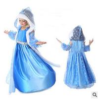 Frozen Dress Elsa & Anna Summer Dress For Girl 2014 New Hot Princess Dresses Brand Girls Dress Children Clothing -3