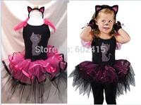 5set Children girl's Cat ballet dress performance wear dance TUTU dress+ hair accessory 15247